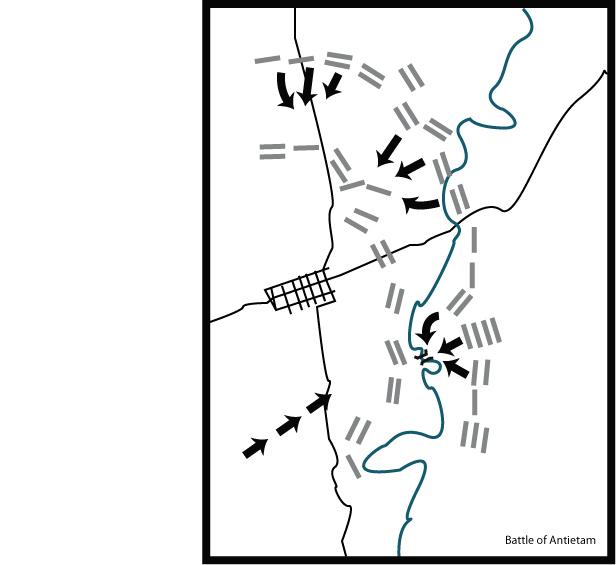 Antietam Blank Study Map